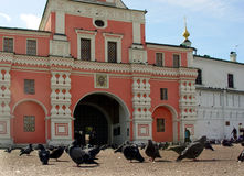 Entrance to Danilov Monastery Stock Photo