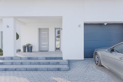 Entrance to detached house Stock Images