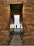 Entrance to the Djoser mortuary complex at Saqqara (Egypt) Stock Photos