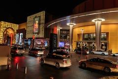 Entrance to Dubai Mall at night. DUBAI, UAE - NOVEMBER 9, 2013: Entrance to Dubai Mall at night Royalty Free Stock Images