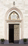 Entrance to the Duomo of Cividale del Friuli Stock Photos