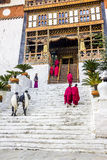 Entrance to the dzong Royalty Free Stock Photos