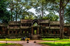 Entrance to the east of the Angkor Wat royalty free stock image