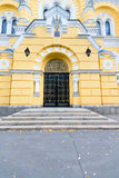 Entrance to the Eastern Orthodox Church in Kiev, Ukraine Stock Images