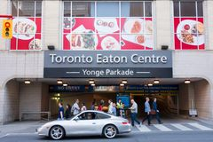 Entrance to the Eaton Centre parking lot Royalty Free Stock Photo