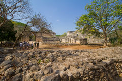 Entrance to Ek Balam. The entrance to the archaeological Mayan site of Ek Balam in the Yucatan Peninsula in Mexico Royalty Free Stock Images