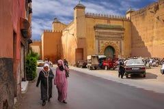 Entrance to El Badi palace. Marrakesh . Morocco Stock Images