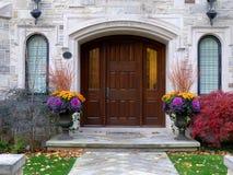 Entrance to elegant house Stock Photo