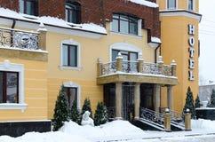 Entrance to elite respectable Park Hotel Zamkovyj, Gomel, Belaru Stock Images