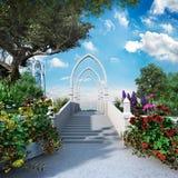 Entrance to elven garden Royalty Free Stock Photos