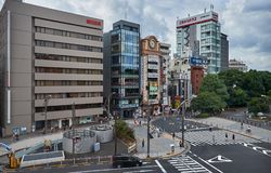 Tokyo, Japan 08.29.2017: Ueno Park entrance. Entrance to Euno park near Keisei Ueno station Royalty Free Stock Images
