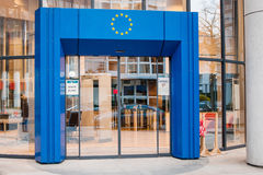 Entrance to European union Stock Photo