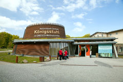 The entrance to exhibition in Nationalpark-Zentrum KOENIGSSTUHL Royalty Free Stock Images