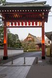 The entrance to the famous Senso-ji temple in the Asakusa district in Tokyo, Japan royalty free stock photos