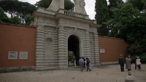 Entrance to famous sight in Rome Italy stock video