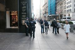 Entrance to the famous Trump Tower in lower Manhattan, New York City. Royalty Free Stock Photo