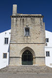 Entrance to Faro Cathedral, Faro, Algarve, Portugal Stock Photography