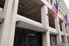 Entrance to FBI Building in Washington DC royalty free stock photos