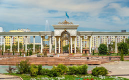 Entrance to the First President Park in Almaty, Kazakhstan Stock Images