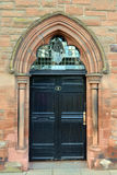 Entrance to former Middle Church in Tay Street, Perth, Scotland. Entrance to former Middle Church (now converted to flats) in Tay Street, Perth, Scotland stock photos