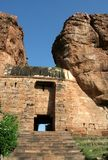 Entrance to Fort. Doorway to northern fort in Badami, Karnataka, India, Asia Stock Photo