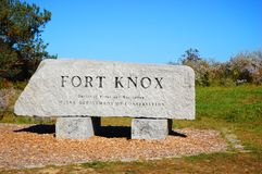 Fort Knox State Historic Site, Maine, USA. Entrance to Fort Knox State Historic Site in Prospect, Maine, USA Royalty Free Stock Images