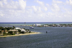 Entrance to Fort Lauderdale, Florida Harbour Royalty Free Stock Photography