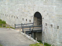 Entrance to a fort Stock Image