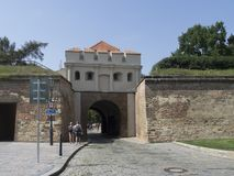 Entrance to fortified Vyšehrad, Prague Stock Image