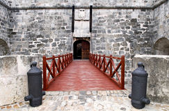 Entrance to the fortress stock photography