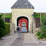 Entrance to the fortress Bourtange Royalty Free Stock Photography
