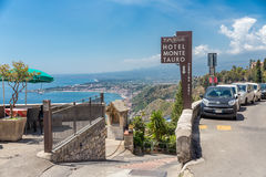 Entrance to a four star hotel in Taormina at Sicily Royalty Free Stock Photography
