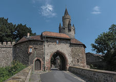 Entrance to Friedberger Burg, Hesse, Germany.  Royalty Free Stock Photography