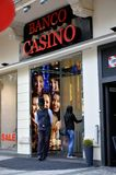 Entrance to a gaming house in Vienna Royalty Free Stock Photo