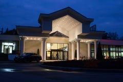 Entrance to garden inn hotel Stock Photos