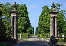 The entrance to the gardens, palaces Schloss Sanssouci in Potsdam Royalty Free Stock Images