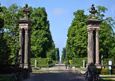 The entrance to the gardens, palaces Schloss Sanssouci in Potsdam Royalty Free Stock Photos