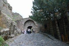 Entrance to the Geghard monastery Stock Photos