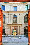 Entrance to the Geneva Museum of reform. Switzerland Royalty Free Stock Photo
