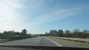 Entrance to Germany with Street sign and speed limits instructions stock video