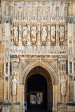 Entrance to Gloucester cathedral Royalty Free Stock Image