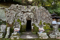 Entrance to Goa Gajah cave Stock Image