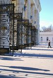 Entrance to the Gorky Park, Moscow. Royalty Free Stock Photo