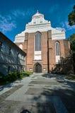 The entrance to the Gothic, Catholic church Stock Image
