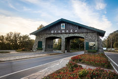 Entrance to Gramado City & x28;Portico& x29; - Gramado, Rio Grande do Sul, Brazil. Entrance to Gramado City & x28;Portico& x29; in Gramado, Rio Grande do Sul royalty free stock images