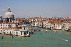 Entrance to Grand Canal in Venice Royalty Free Stock Photography