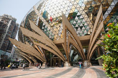 Entrance to the Grand Lisboa Casino in Macau Royalty Free Stock Image