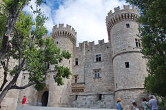 Entrance to the Grand Master palace in Old Town of Rhodes Royalty Free Stock Image