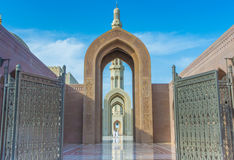 Entrance to the Grand Mosque, Muscat, Oman Royalty Free Stock Photos