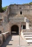 Entrance to Grand Theatre in Pompeii Stock Photos